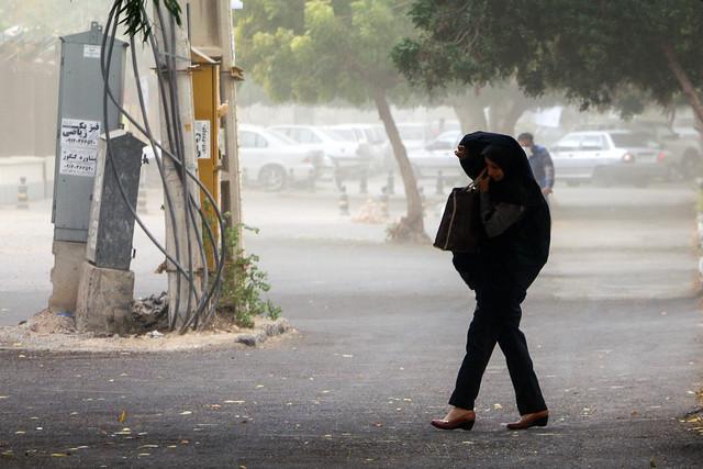 وزش باد نسبتا شدید در تهران طی امروز