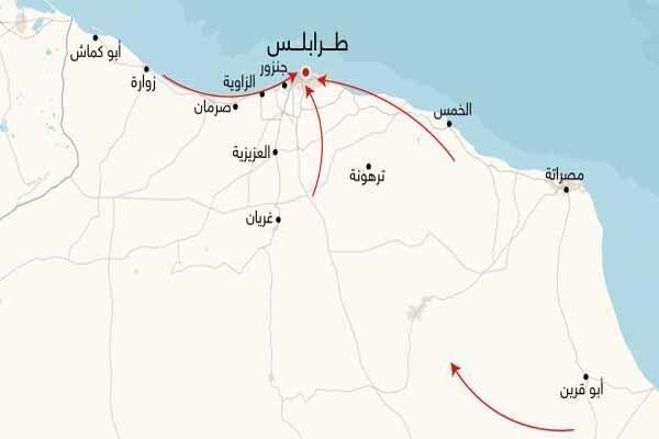432 کشته از شروع درگیری های طرابلس لیبی