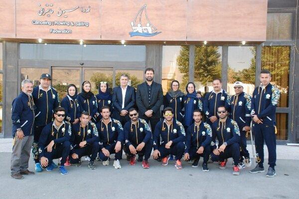تیم ملی قایقرانی آبهای آرام ایران راهی مجارستان شد