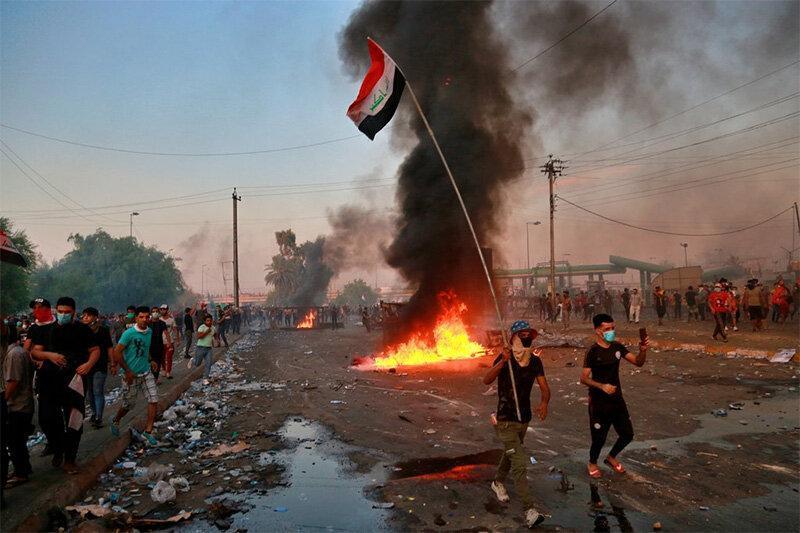 پلیس عراق: هیچ دستوری درباره اعمال خشونت صادر نشده