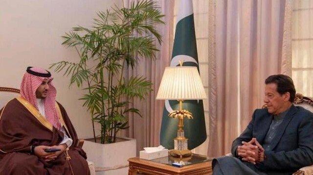 دیدار معاون وزیر دفاع عربستان با عمران خان
