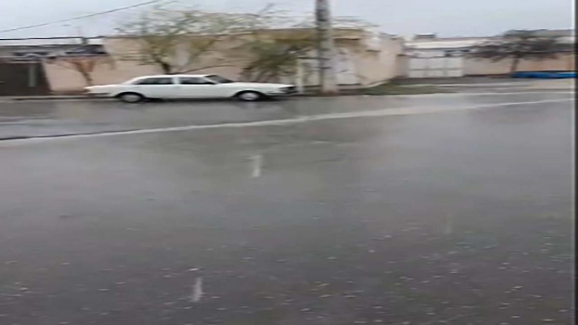 بارش تگرگ در فریمان