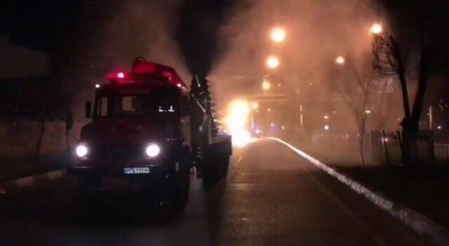 آتش سوزی در کلینیک درمانی در شمال تهران