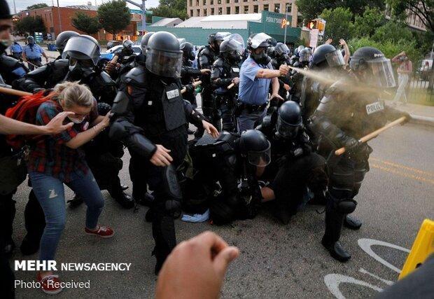پلیس آمریکا معترضان به نژادپرستی را در پورتلند سرکوب کرد