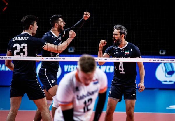 لیگ ملت های والیبال، برتری ایران مقابل هلند در نخستین رویارویی تاریخ دو تیم